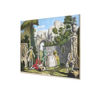 詩歌、パブ。 ロバートSayer (fl.1750-80)著c.1750 ( キャンバスプリント
