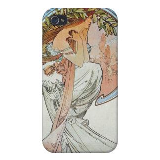 詩歌、ミュシャ iPhone 4 COVER