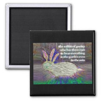 詩歌[磁石]のウサギ マグネット