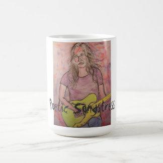 詩的な女性歌手 コーヒーマグカップ