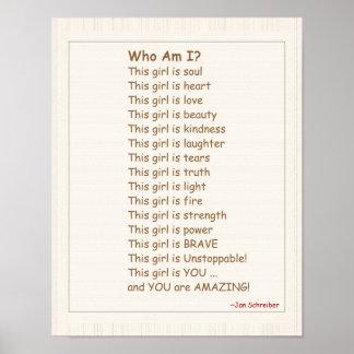 詩、女の子のための勇気付けられるが付いているポスター ポスター