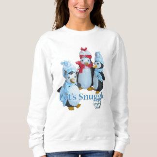 詰まったなペンギンの寒い気候に寄添おう スウェットシャツ