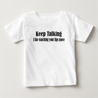 話すことを保って下さい ベビーTシャツ