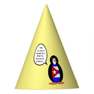 話すキューバの旗のペンギン パーティーハット