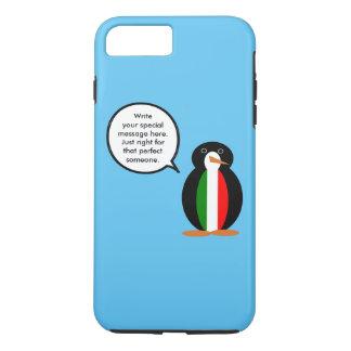話すペンギンのイタリア人の旗 iPhone 8 PLUS/7 PLUSケース