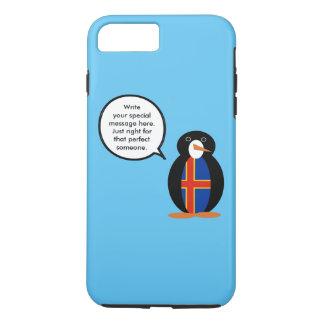 話すペンギンのAlandの島の旗 iPhone 8 Plus/7 Plusケース