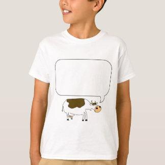 話す牛スピーチの泡 Tシャツ