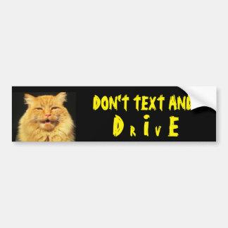 話す猫は文字死ぬために言い、(ドライブ) バンパーステッカー