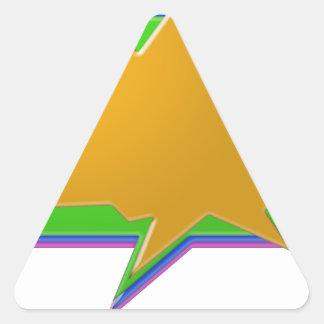 話の泡: 文字またはイメージの編集可能テンプレートを加えて下さい 三角形シール