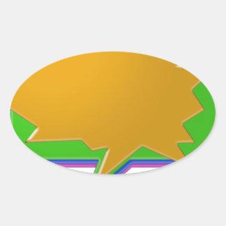 話の泡: 文字またはイメージの編集可能テンプレートを加えて下さい 楕円形シール