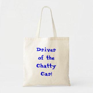 話好きな車のトートバックの運転者 トートバッグ