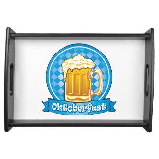 詳しいオクトーバーフェストビールラベル トレー
