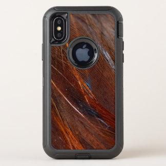 詳しいカラフルな孔雀の羽 オッターボックスディフェンダーiPhone X ケース