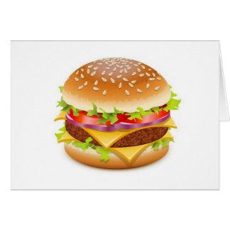 詳しいハンバーガーのデザイン グリーティングカード