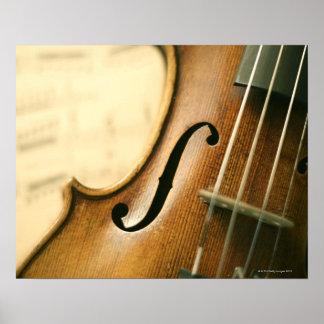 詳しいバイオリン ポスター