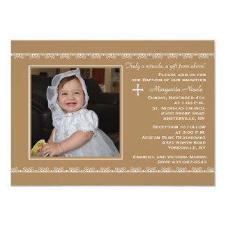 詳しいボーダー写真の招待状 カード