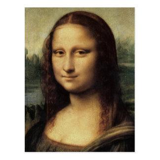 詳しいモナ・リザDa Vinciの郵便はがきによって ポストカード