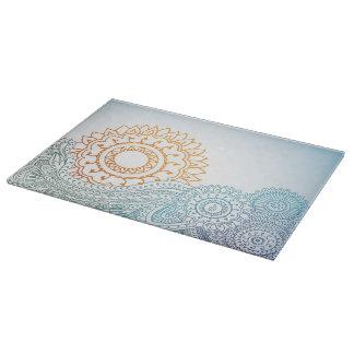 詳しいhennaの抽象芸術の日の出 カッティングボード