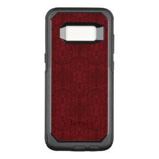 詳しく赤い花模様の壁紙 オッターボックスコミューターSamsung GALAXY S8 ケース