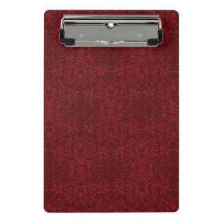詳しく赤い花模様の壁紙 ミニクリップボード