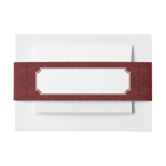 詳しく赤い花模様の壁紙 招待状ベリーバンド