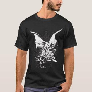 詳しく述べられる暗い騎士ロゴ Tシャツ