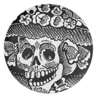 詳細の女性のスカル骨組Joséポザーダ プレート