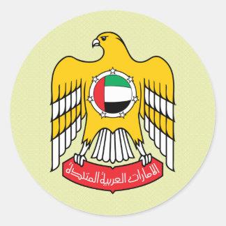 詳細アラブ首長国連邦の紋章付き外衣 ラウンドシール