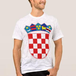 詳細クロアチアの紋章付き外衣 Tシャツ