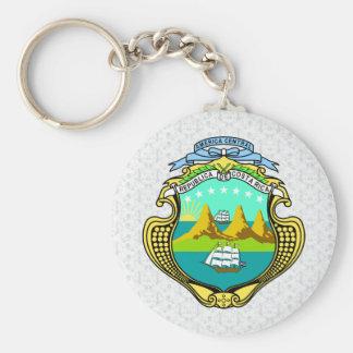詳細コスタリカの紋章付き外衣 キーホルダー
