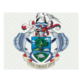 詳細セイシェルの紋章付き外衣 ポストカード