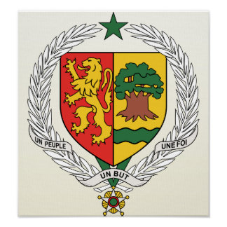詳細セネガルの紋章付き外衣 ポスター