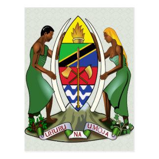 詳細タンザニアの紋章付き外衣 ポストカード