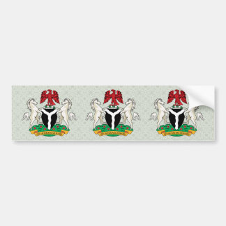 詳細ナイジェリアの紋章付き外衣 バンパーステッカー