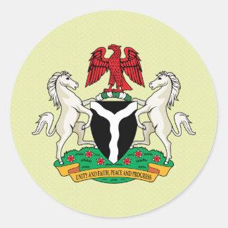 詳細ナイジェリアの紋章付き外衣 ラウンドシール