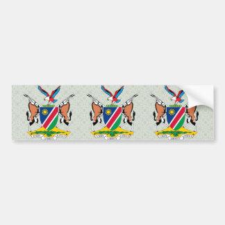 詳細ナミビアの紋章付き外衣 バンパーステッカー