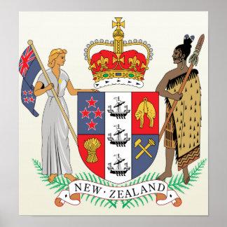 詳細ニュージーランドの紋章付き外衣 ポスター