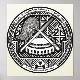 詳細米領サモアの紋章付き外衣 ポスター