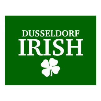 誇りを持ったでカスタムなデュッセルドルフアイルランド都市Tシャツ ポストカード