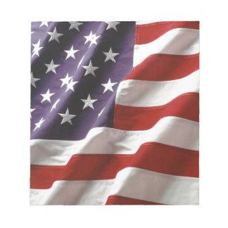 誇りを持ったで、愛国心が強い米国の旗 ノートパッド