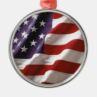 誇りを持ったで、愛国心が強い米国の旗 メタルオーナメント