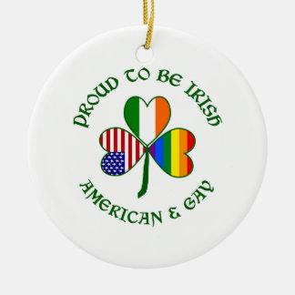 誇りを持ったなアイルランドのアメリカ及び陽気 セラミックオーナメント