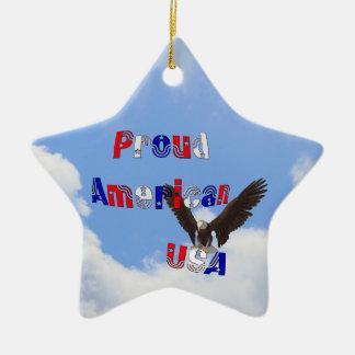 誇りを持ったなアメリカのワシの愛国心が強いオーナメント セラミックオーナメント