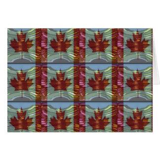 誇りを持ったなカナダのカエデの葉パターン カード