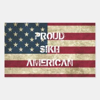 誇りを持ったなシーク教徒のアメリカのステッカー 長方形シール