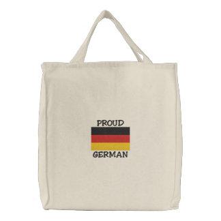 誇りを持ったなドイツ語によって刺繍されるバッグ 刺繍入りトートバッグ