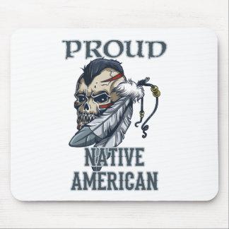 誇りを持ったなネイティブアメリカン マウスパッド