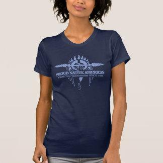 誇りを持ったなネイティブアメリカン(戦いのテロリズム) Tシャツ