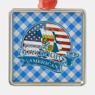 誇りを持ったなバイエルンのアメリカの金属の装飾 シルバーカラー正方形オーナメント