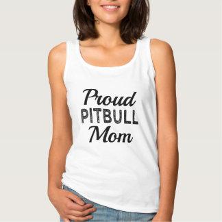 誇りを持ったなピットブルのお母さんのおもしろい犬 タンクトップ
